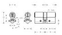 Dibujo técnico Cilindro doble Premium