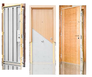 Tres modelos de puertas de seguridad Cabma